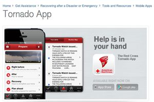 #Tornado Warning and Alert App This free app from the #AmericanRedCross tracks a tornado as it approaches with step-by-step advice about what to do before the storm hits. A siren warning is built into the app and goes off when the National Oceanic and Atmospheric Administration, #NOAA, issues a tornado warning in your area.