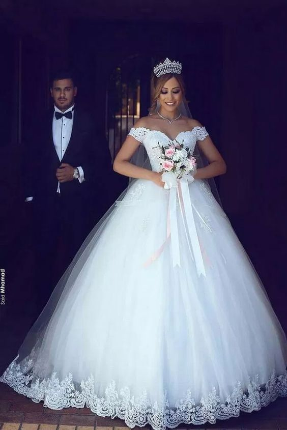 ♔43 Illusion Off-the-shoulder Princess Wedding Dress with Sleeves Perfect For You #wedding #weddingdress #sleeves #princess #fashion   remember.org