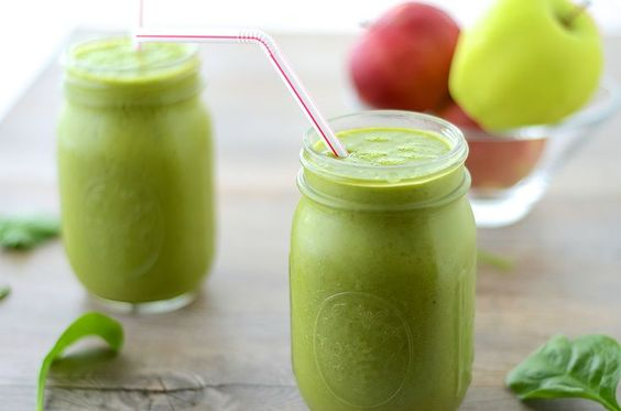 Green Apple Smoothie  by girlmakesfood: Perfect fall smoothie!! Like a healthy, drinkable apple pie!!