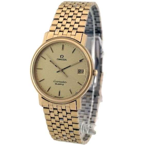 Omega Quartz Gold Watch