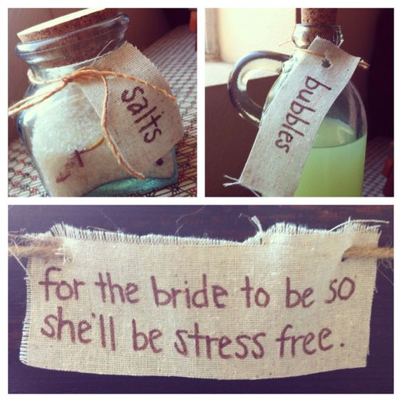 I made this for a few friends that have upcoming weddings. Every girl needs a nice relaxing bath everyone once in a while and even more so when they are a bride to be :)