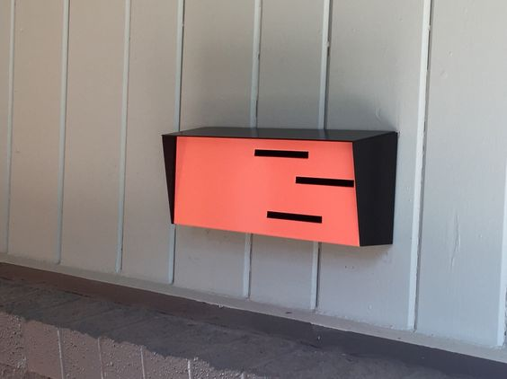 Modern mailbox inspired by mid century modern design