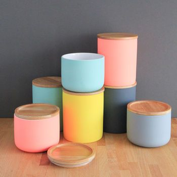 Pinterest the world s catalogue of ideas - Pink tea and coffee canisters ...