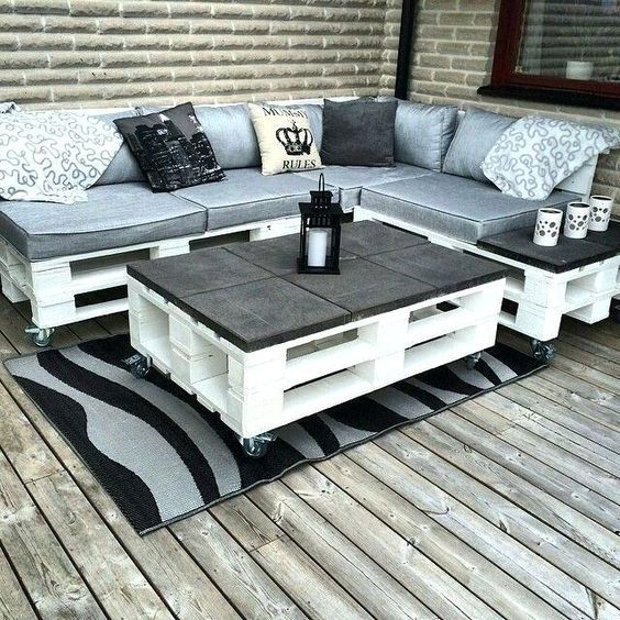 Outdoor Sofa Made From Pallets Patio La Furnire Pallet Furnire