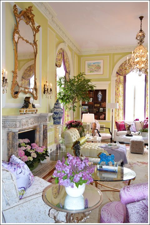 Mansion in May Grand Salon Designed by James Rixner | Living Rooms |  Pinterest | Salon design, Living rooms and Room