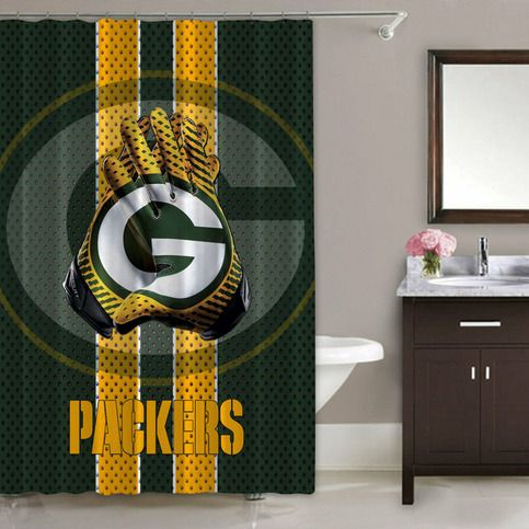 Nfl Green Bay Packers Waterproof Shower Curtain Limited Edition