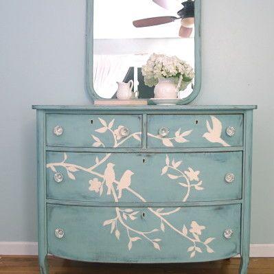 Blue Chalk Paint Antique Dressers And Yellow Chalk Paint On Pinterest