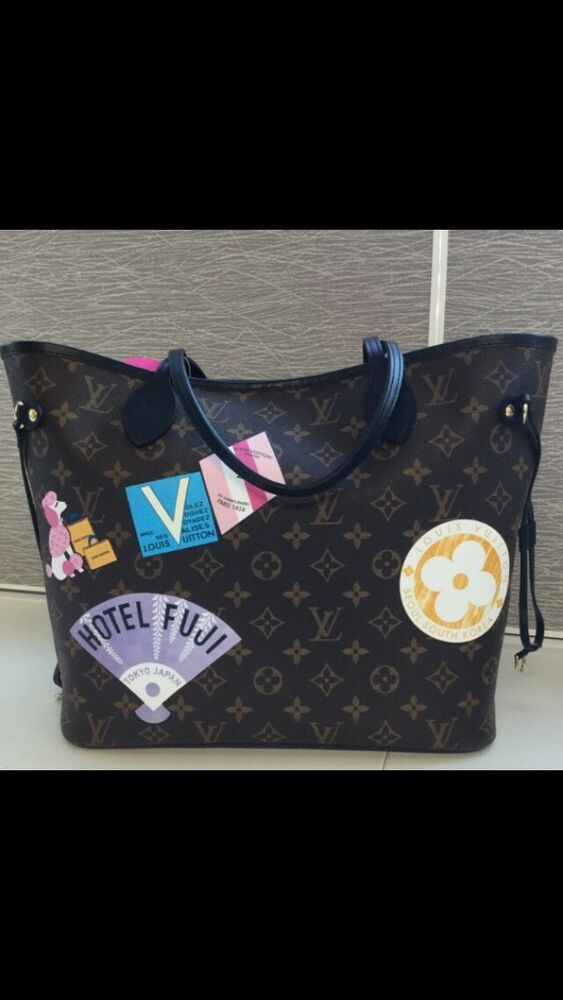 Louis Vuitton Neverfull Mm Monogram World Tour New Fashion Clothing Shoes Accessor Louis Vuitton Neverfull Mm Neverfull Mm Monogram Louis Vuitton Neverfull
