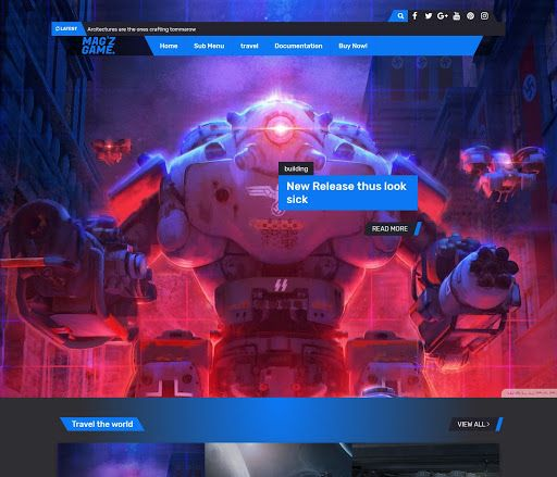 Magz Game Blogger Template Is Made For The Professional Gaming Bloggers With It S Gaming Theme In 2020 Free Blogger Templates Blogger Templates Blogger Design Template