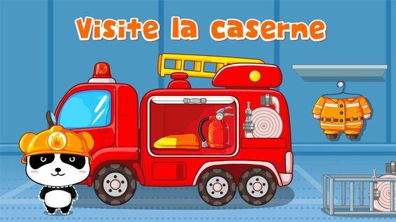 Visite la caserne ! dans KIKI PETIT POMPIER - #BABYBUS https://play.google.com/store/apps/details?id=com.sinyee.babybus.fireman&hl=fr #application #éducative #enfant #tablette #smartphone #pompier #camion #panda #kidsapp