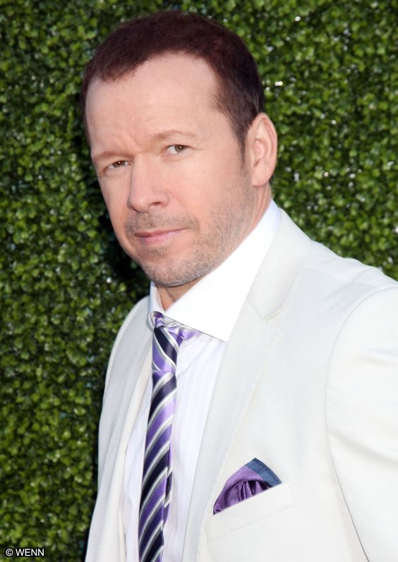 Donnie Wahlberg from NKOTB. Diehard Patriots fan - just look at his tweets @DonnieWahlberg