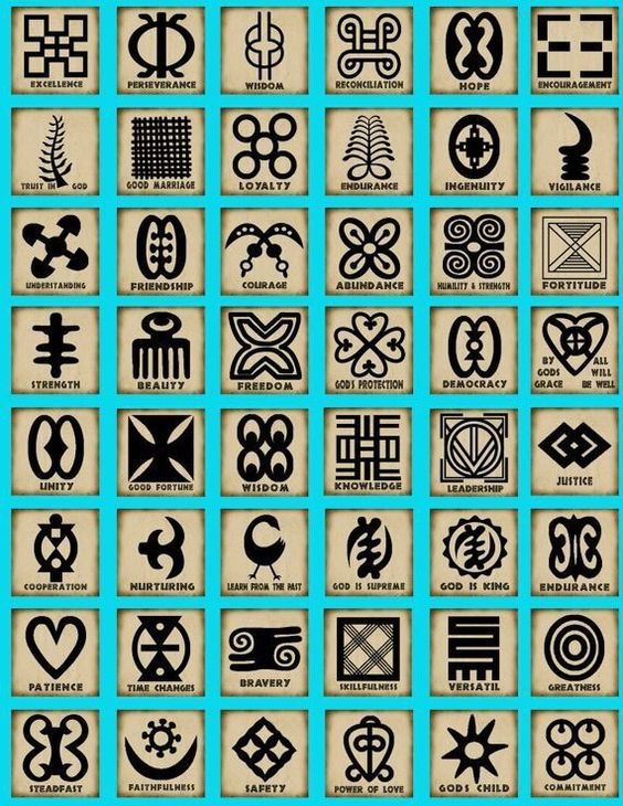 Swahili symbols, would like one as a tattoo --- I like how elegant these look; would definitely consider a few of them