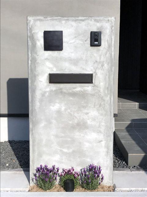 Ykk Ap エクステリアポストg3型 埋込式 1ブロックサイズ カームブラック エクステリア 玄関 門柱 郵便受け 玄関