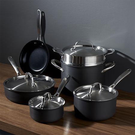 Cuisinart Greengourmet 10 Piece Cookware Set Reviews Crate And Barrel Cookware Set Pots Pans Sets Induction Cookware
