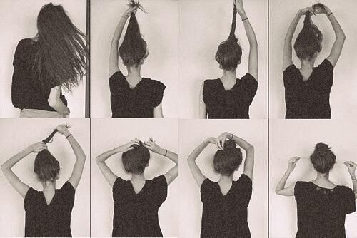 how to tie the perfect messy bun :)