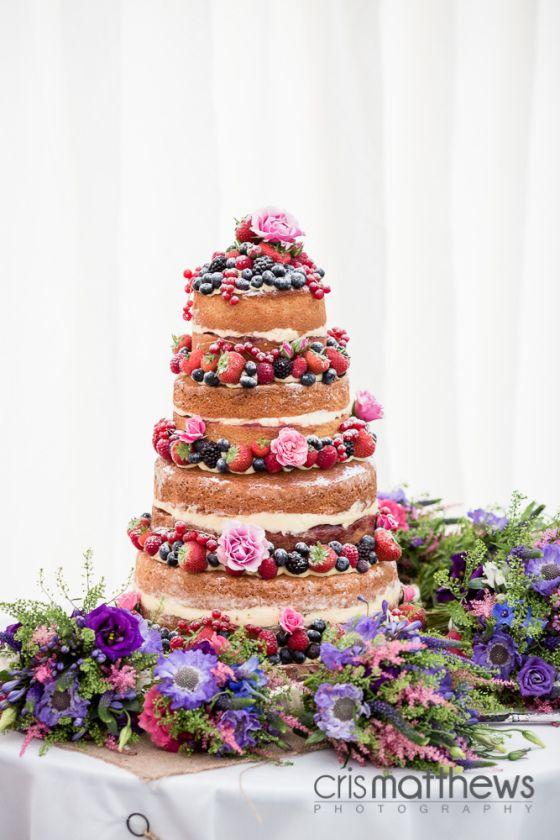 STUNNING Naked Wedding Cake
