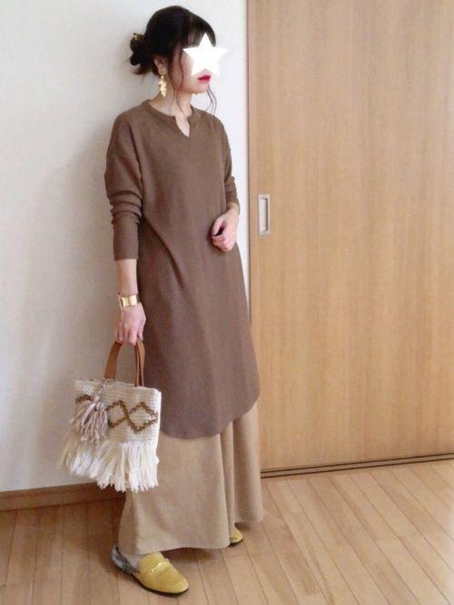 fairy しまむらのワンピースを使ったコーディネート wear ファッション ワンピース ファッションスナップ