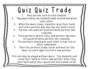 The Resourceful Le Quiz Trade A Kagan Structure Misc Teaching Pinterest
