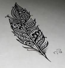 tatouage mandala plume, idée de tatouage