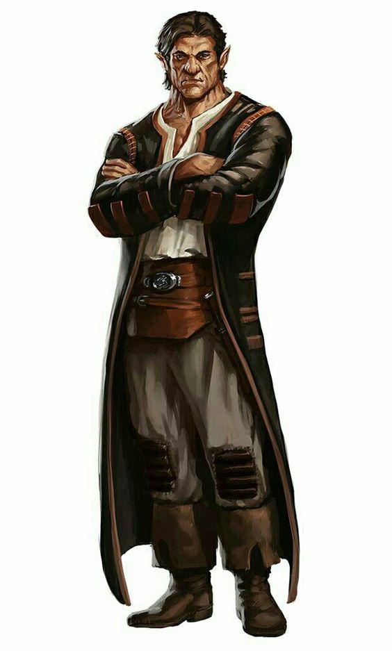 Half-Orc Investigator - Pathfinder PFRPG DND D&D d20 fantasy: