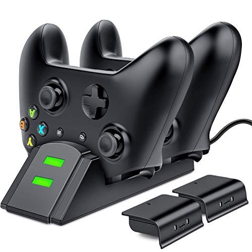 Esywen Xbox One Controller Charger Dual Xbox Controller Charging Station With 2x 800mah Rechargeable Battery Pack Xbox One Controller Xbox Controller Xbox One