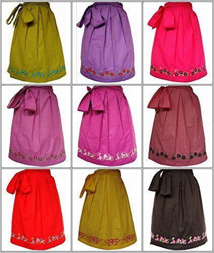 Dirndlschürze Rose Trachten ca. 60cm verschiedene Farben, http://www.amazon.de/dp/B00XJM6SXE/ref=cm_sw_r_pi_awdl_U6Abwb188WVH3