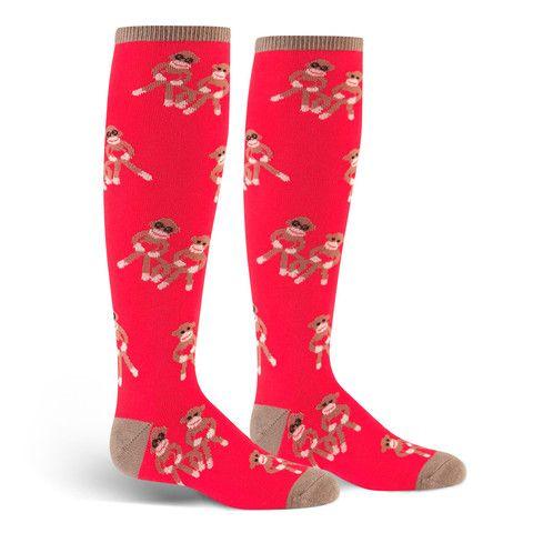 Sock Monkey Love Knee High Socks | Kids