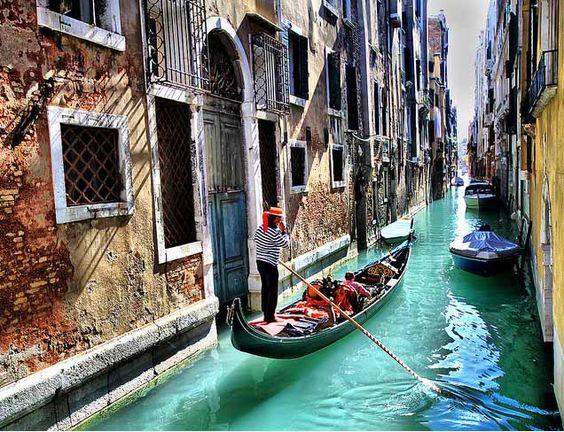 Gondolas - Venice, Italy