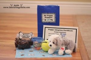 favor for puppy birthday party...