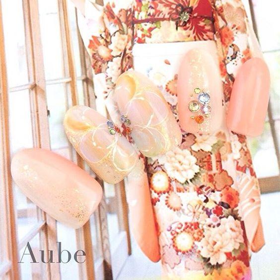 成人式の準備はできた?成人式におすすめなピンク系ネイル♡画像100枚♡成人式ネイル♡ | Jocee