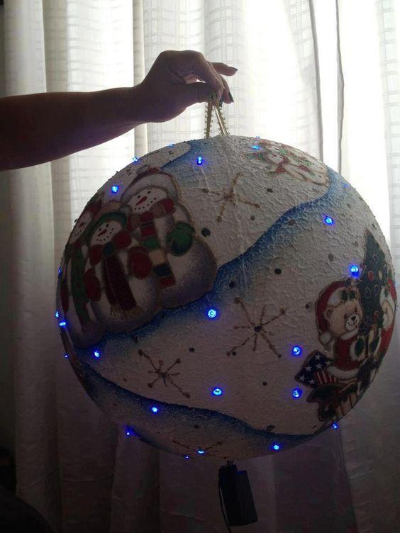 Bola navide as navidad pinterest salud dios y - Bolas de decoracion ...