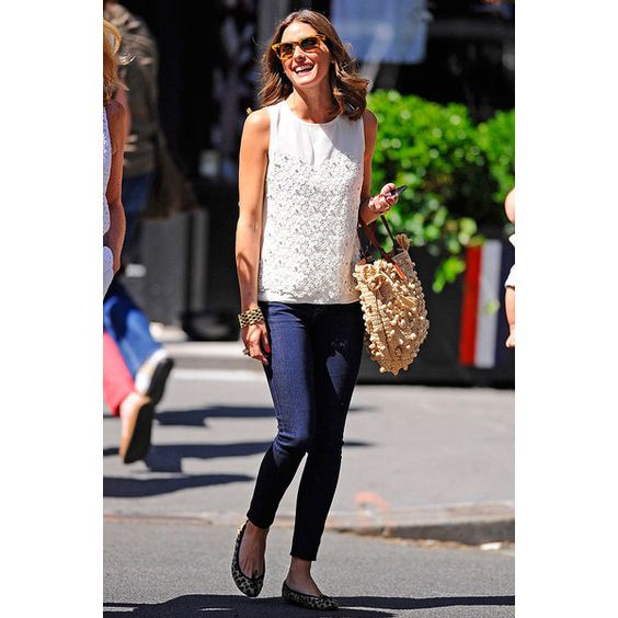 Olivia Palermo on the street in New York found on Polyvore