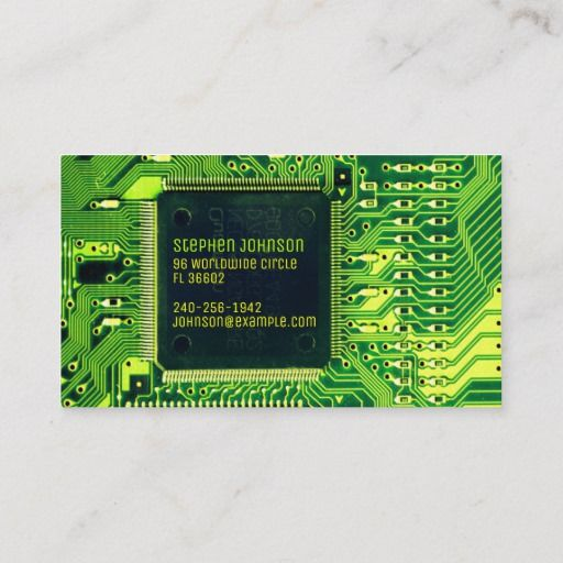 Green Pcb Board Circuit Electronics Engineer Business Card Zazzle Com In 2020 Electronic Engineering Custom Business Cards Electronic Supplies
