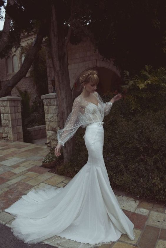 Compliment your figure in this #skin #tight #wedding dress!For ...