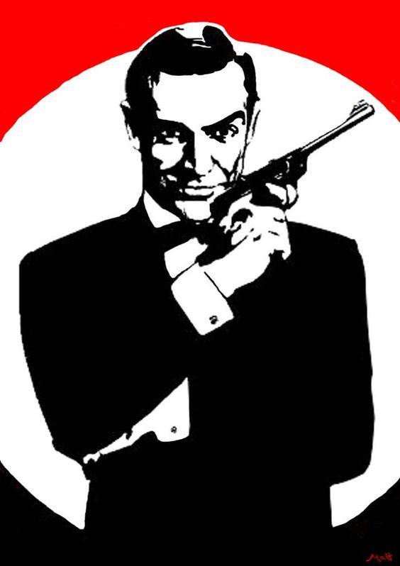 James Bond 007 Pop Art Birthday Card Greetings Card From The Etsy Art Birthday Pop Art James Bond