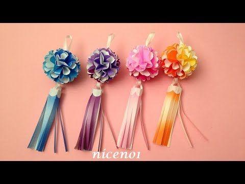 折り紙 七夕飾り 可愛い花のくす玉の吹き流し飾りの作り方 Origami Flower Kusudama Decoration Tutorial Niceno1 Youtube 七夕 飾り おしゃれ 七夕飾り 吹き流し