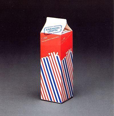 Vintage milk packaging