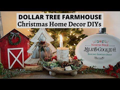 4 High End Dollar Tree Farmhouse Christmas Diys Farmhouse Home Decor Christmas Diys Yout In 2020 Dollar Tree Christmas Farmhouse Christmas Dollar Tree Diy Crafts