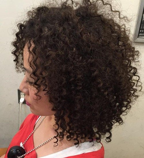 Avedaibw Strong Curls On Medium Length Dark Brown Hair Short Permed Hair Permed Hairstyles Spiral Perm