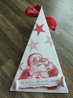 Dreiecksverpackung mit Wunschzettel und Simply Stars