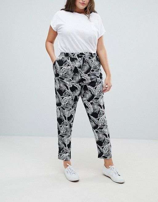 New Look Plus | New Look Curve - Pantalon de jogging à imprimé palmier