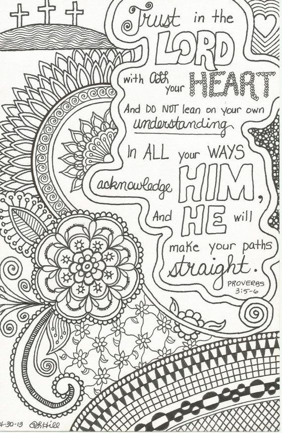 christian coloring pages with verses - photo #17