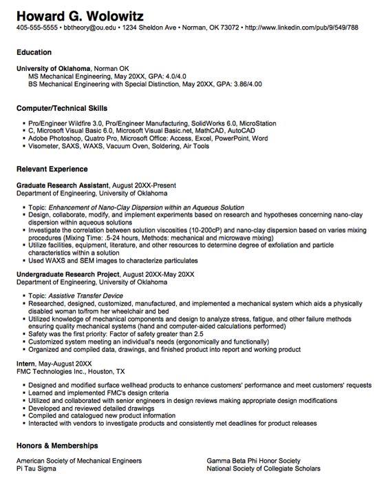 Resume phd student