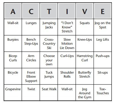 Fitness Bingo Warm-Up Elem PE Pinterest Health, Girls and For kids - baseball stats spreadsheet