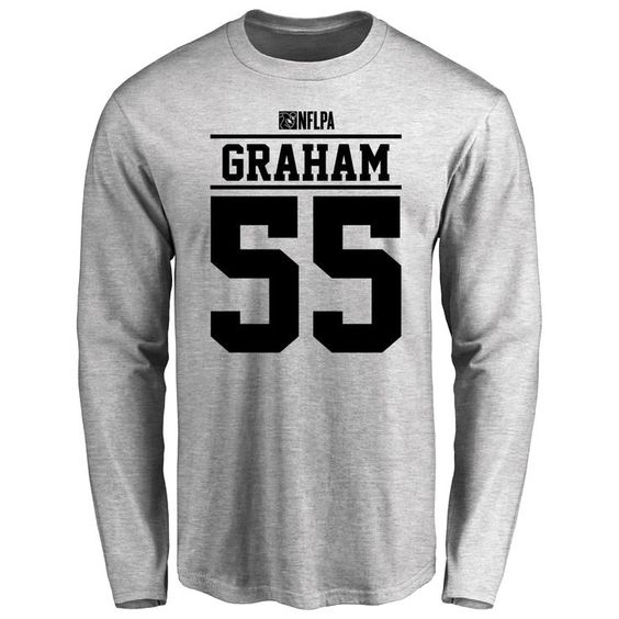 huge selection of aec2f 5a785 Brandon Graham Player Issued Long Sleeve T-Shirt - Ash