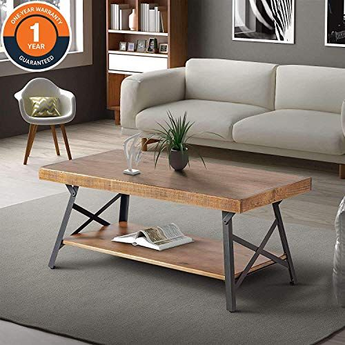 New Industrial Coffee Table Storage Shelf Coffee Tables Living