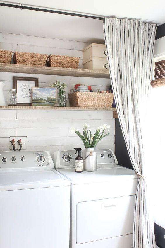 Laundry Room Closet Curtain When Dreams Collide Farmhouse