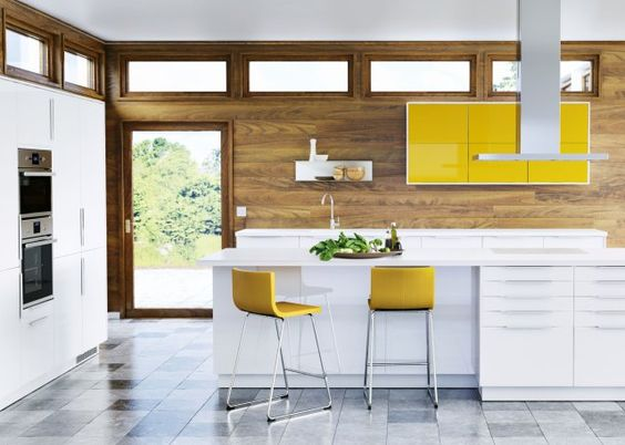 Jaune moutarde la couleur intemporelle adopter for Cuisine jaune et blanche
