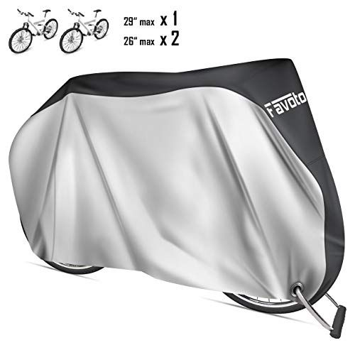 Funda para Bicicleta de Tela Oxford 210D Funda Bici Impermeable Sol y Polvo Bicycle Bike Cover Plegable para Bicicleta de Monta/ña Carretera con Bolsa Almacenamiento HONZUEN Funda Bicicleta Exterior