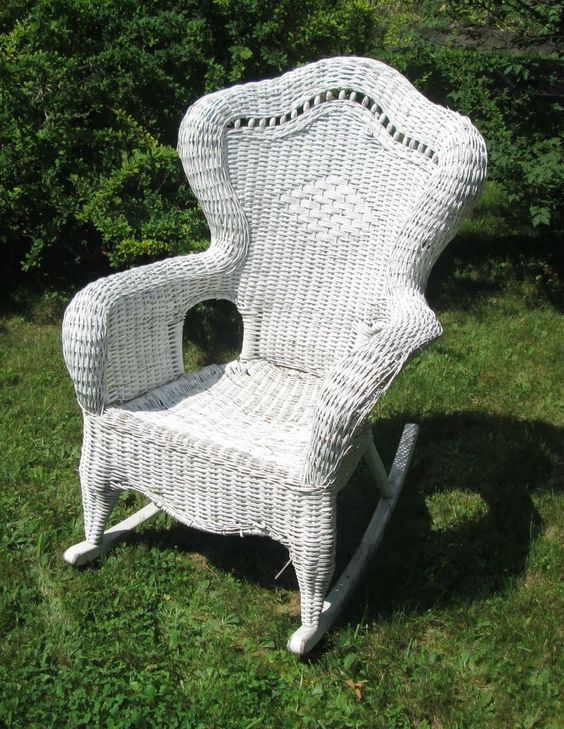 white wicker rocking chairs and chairs on pinterest. Black Bedroom Furniture Sets. Home Design Ideas